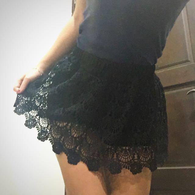 蕾絲性感褲裙