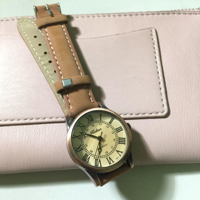 [二手] 韓·復古麂皮手錶