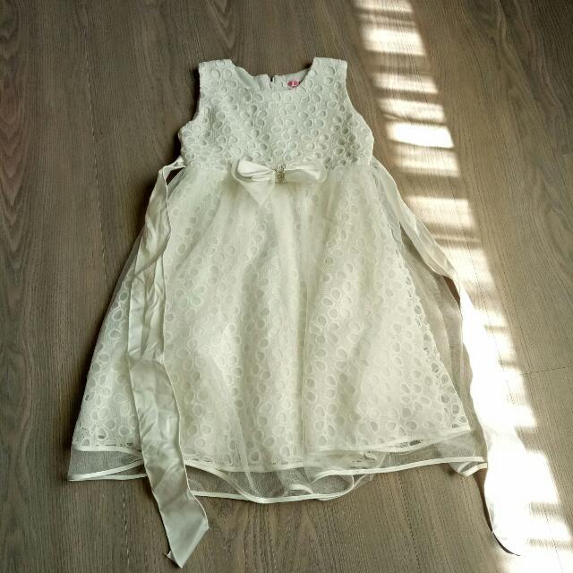 幼稚園 畢業禮服 白紗裙