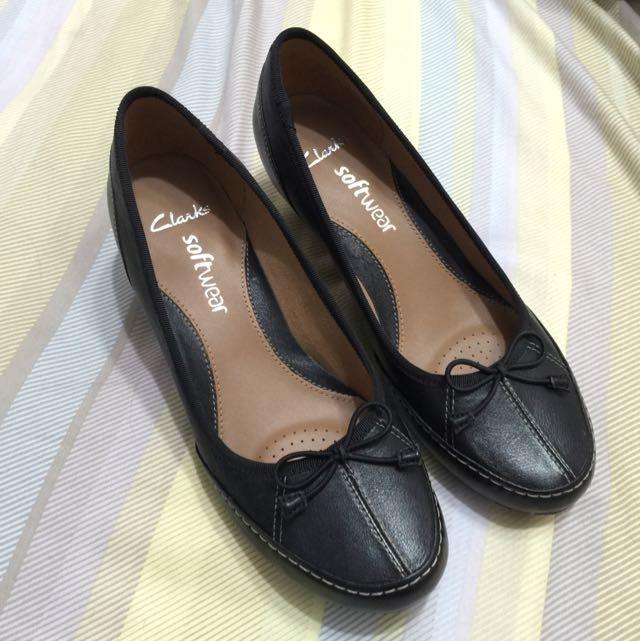 全新品 Clarks 氣質典雅楔型鞋 高跟鞋 氣墊鞋