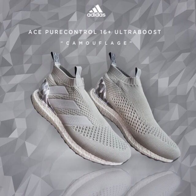 Adidas ACE 16+ Purecontrol Ultra Boost Schuh weiß BY9091