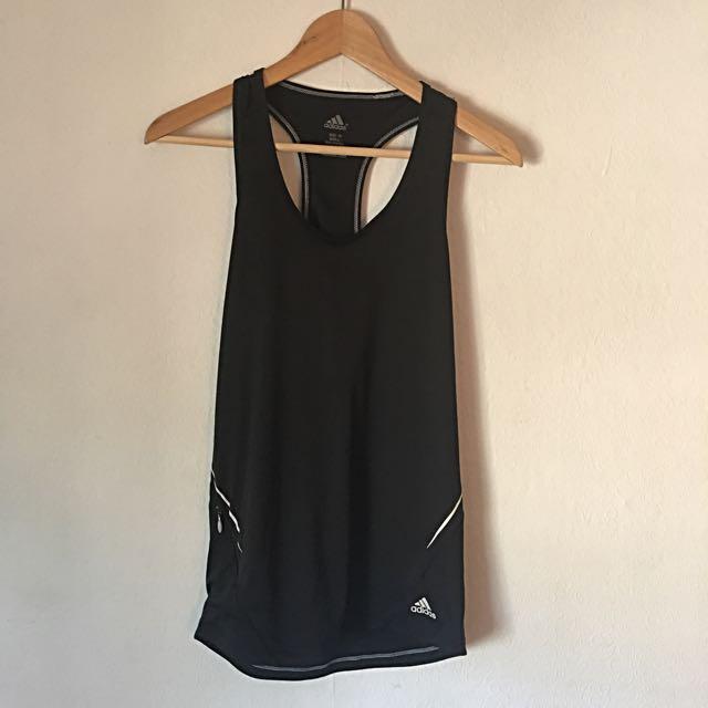 Adidas Size 10 Black Racer Back Gym Top
