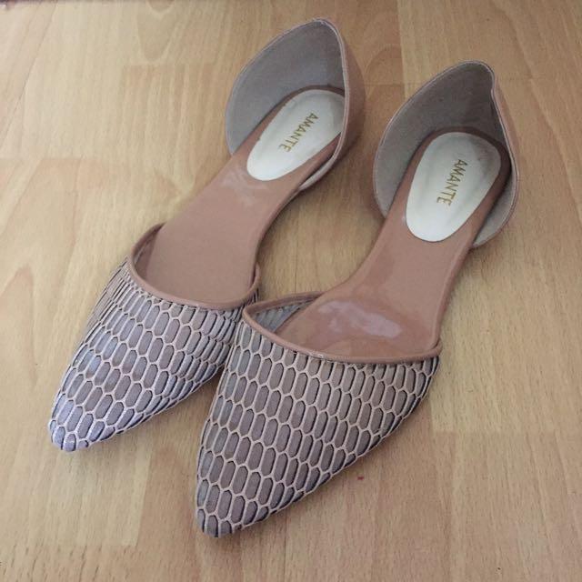 Amante Soft Pink Flat Shoes