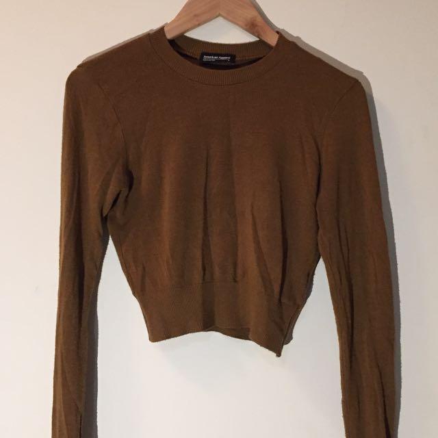 American Apparel Lightweight Crop Knit Sweater