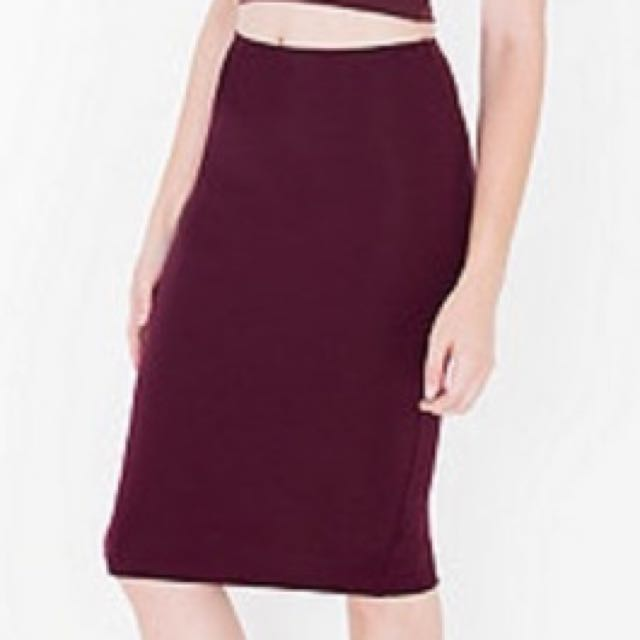 American Apparel Ponte Mid-length Skirt