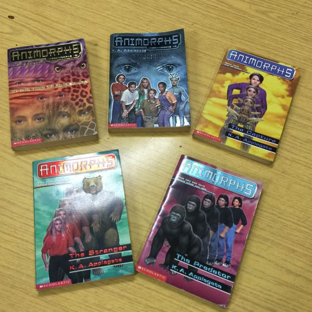 Animorphs 5 Titles Books Stationery Fiction On Carousell