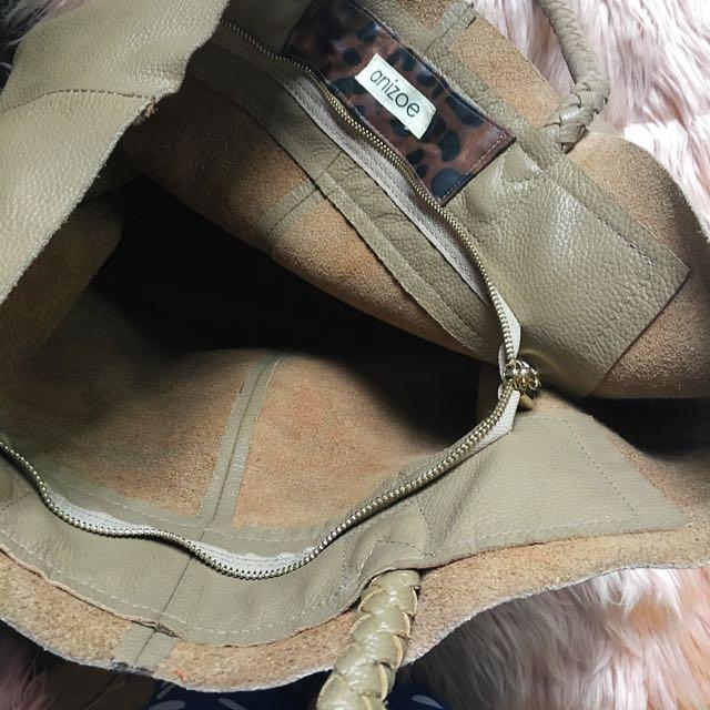 Anizoe Large Leather Tote