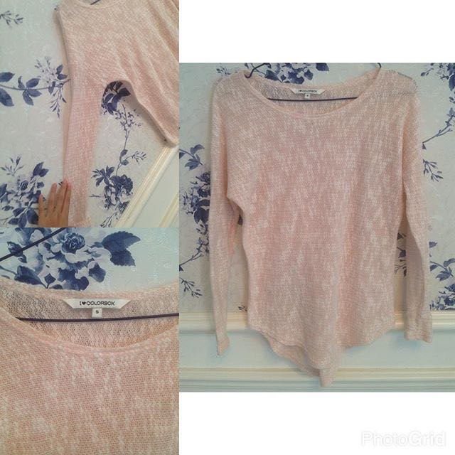 Baju Atasan Knit Pink Colorbox