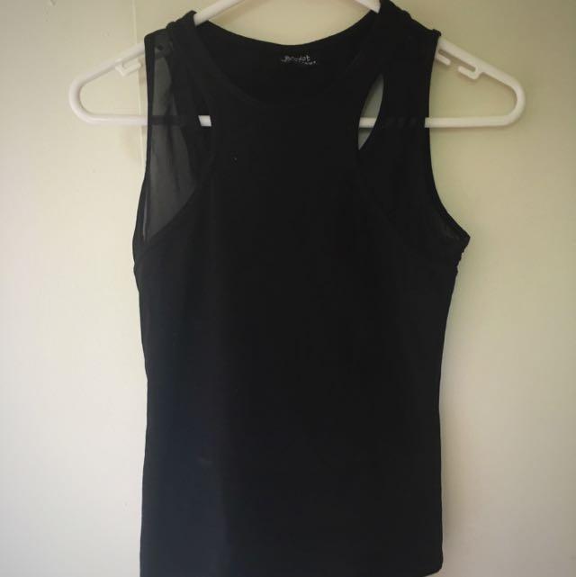 Bardot Black Top Size 6