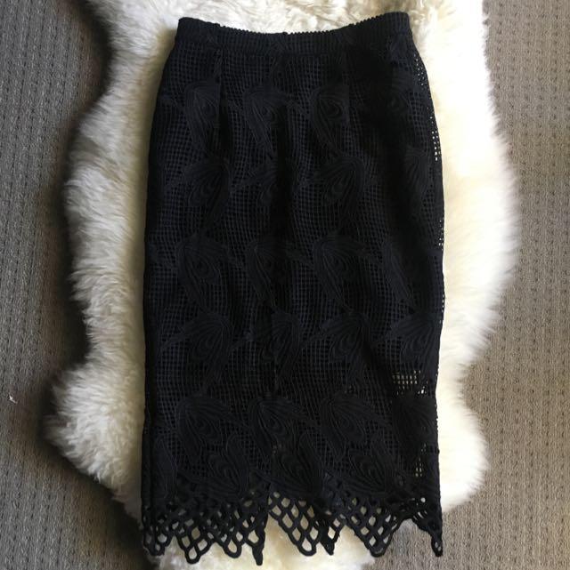 BARDOT Lace Patterned Skirt
