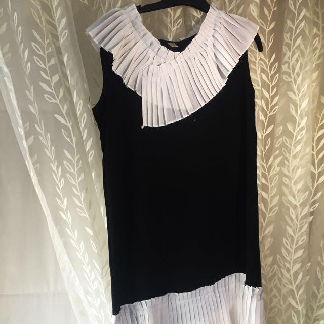 Black And White Chiffon Dress