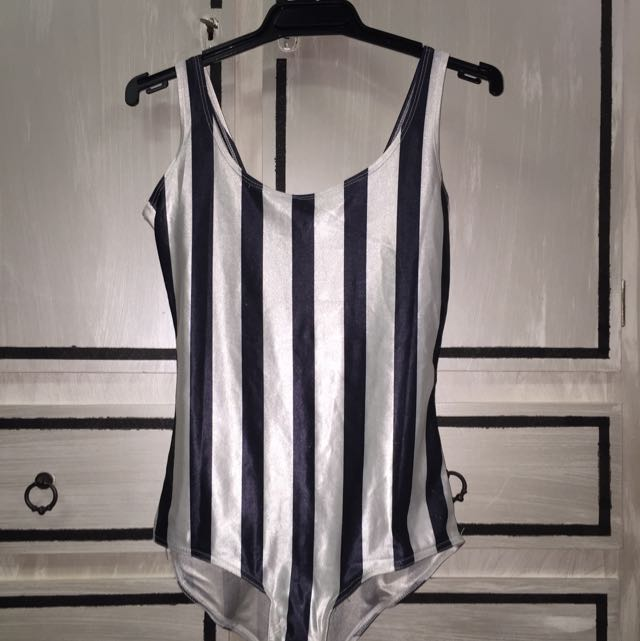 Black And White Stripe Bodysuit