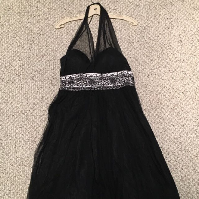 Black Halter Formal Dress
