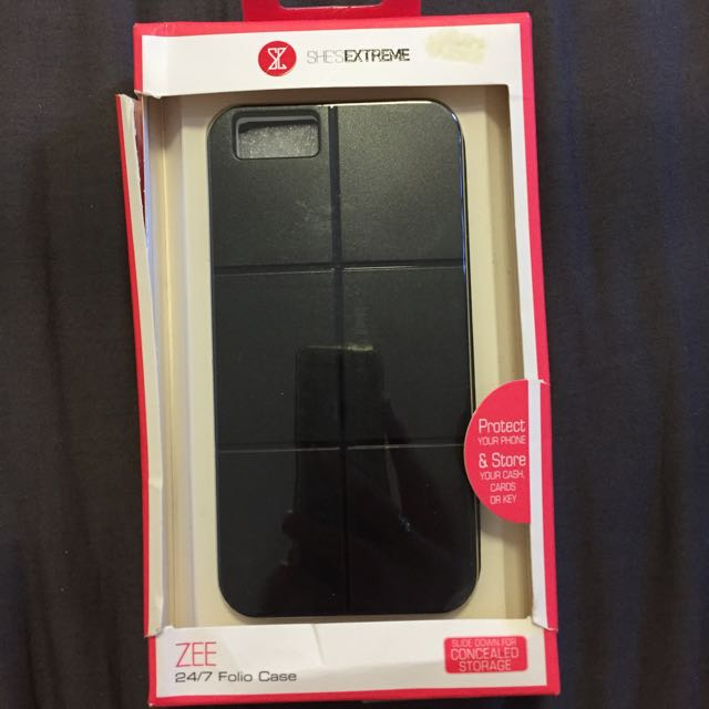 Black iPhone 6 Case With Storage!