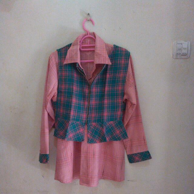 Outer Flanel + Blouse 2in1 (REPRICE)
