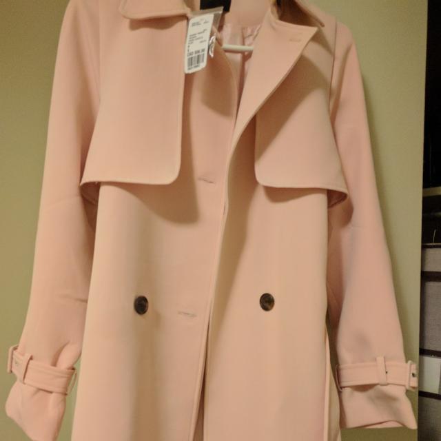 Blush Pink Trench Coat