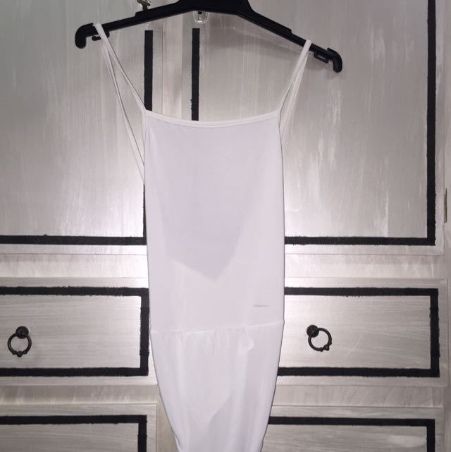 Boohoo White Leotard