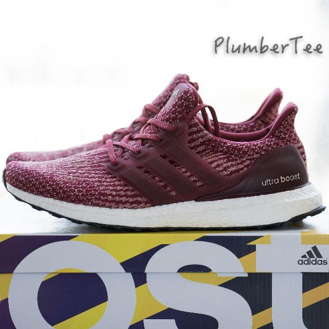 Men US 9.5   11.5 Adidas Ultra Boost Burgundy 3.0