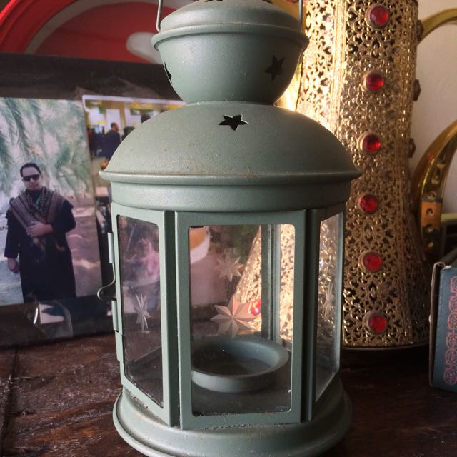 Candle holder bentuk lampion shabby chic