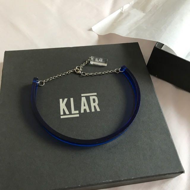 Crsytal Blue Necklace
