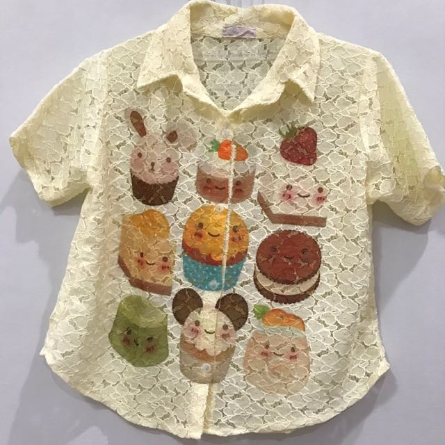 Cute cupcake lace shirt