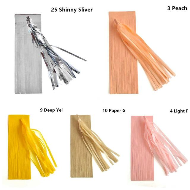 Decoration Coloured Paper Tassels