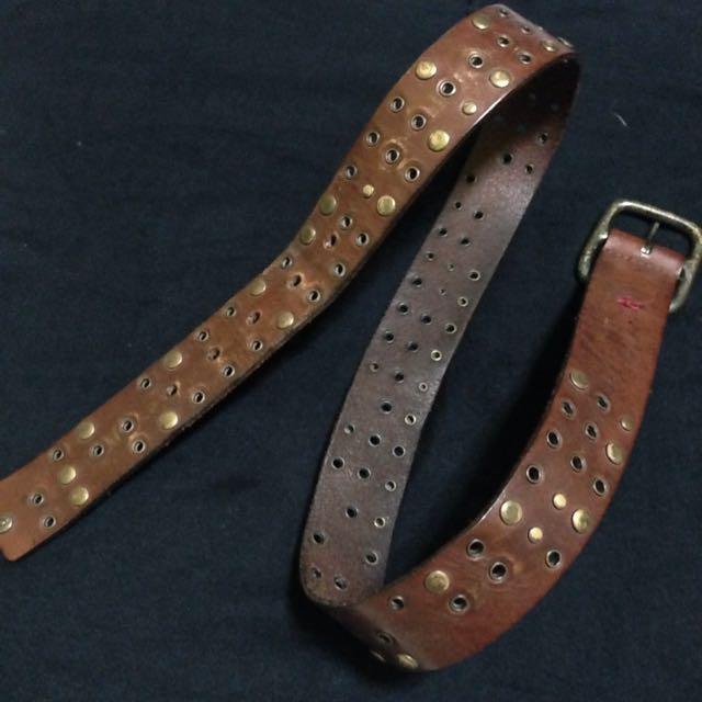 Esprit Brown Studded Leather Belt