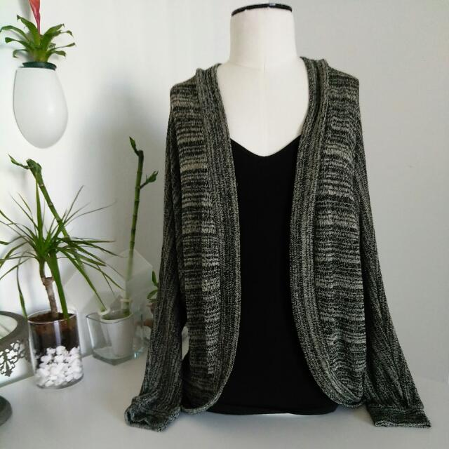 F21 Lightweight Knit Open Cardigan