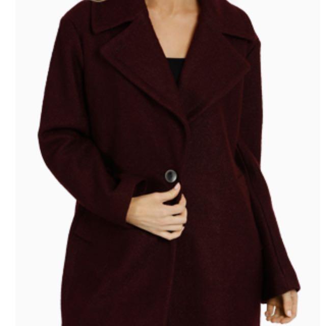 Fleet Street Boiled Wool Coat - Size S
