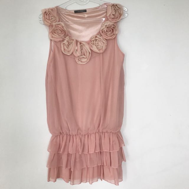 Flower Dusty Pink Dress