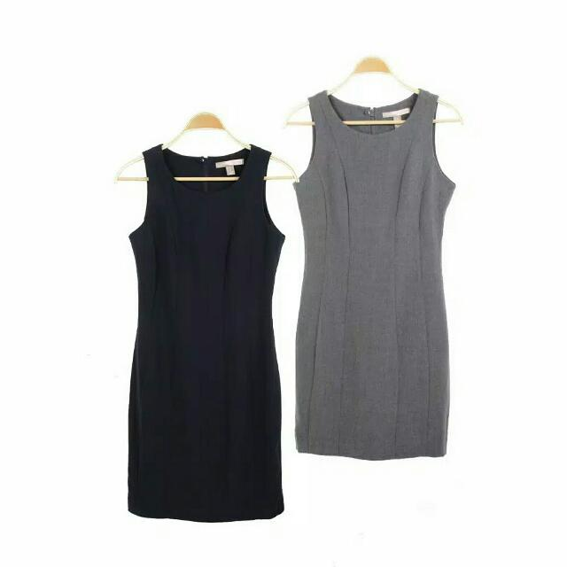 Forever21 Dress In Grey And Navy
