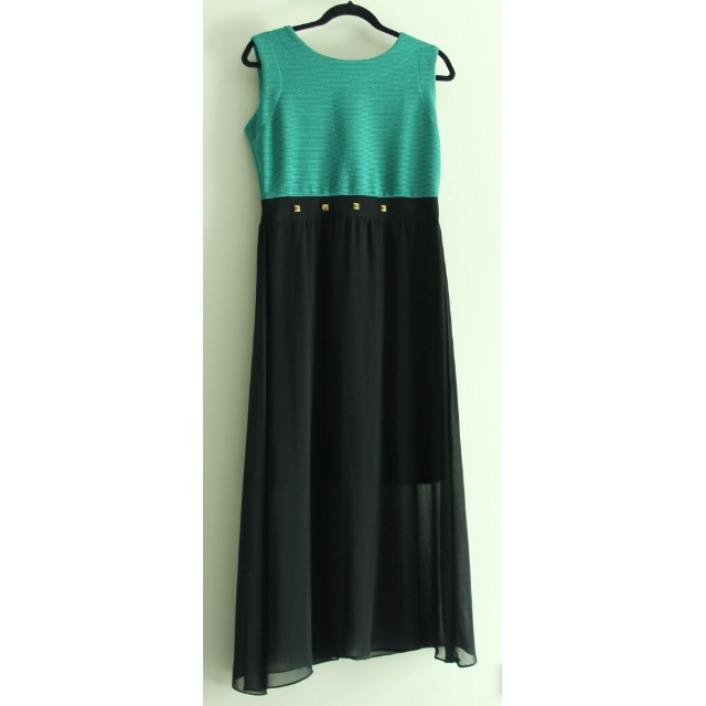 Green and black CLN dress