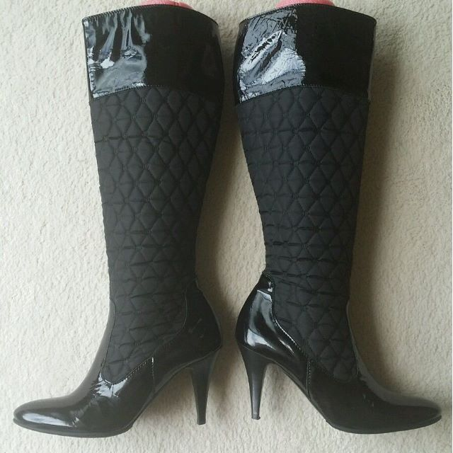 Guglielmo Rotta black quilted boots 38.5