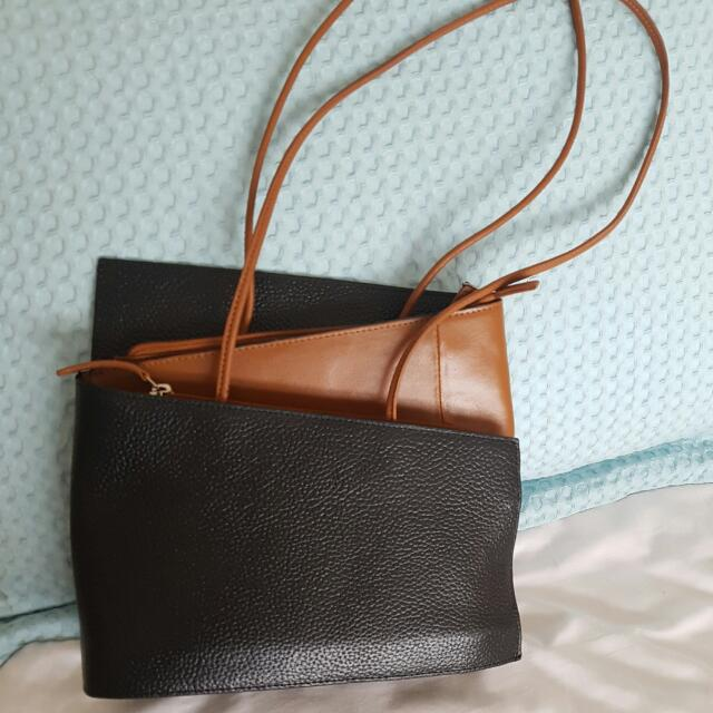 Handbag- Black/tan