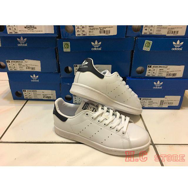 「H.C優惠」英國公司 Adidas Originals Stan Smith 深藍尾 鞋帶