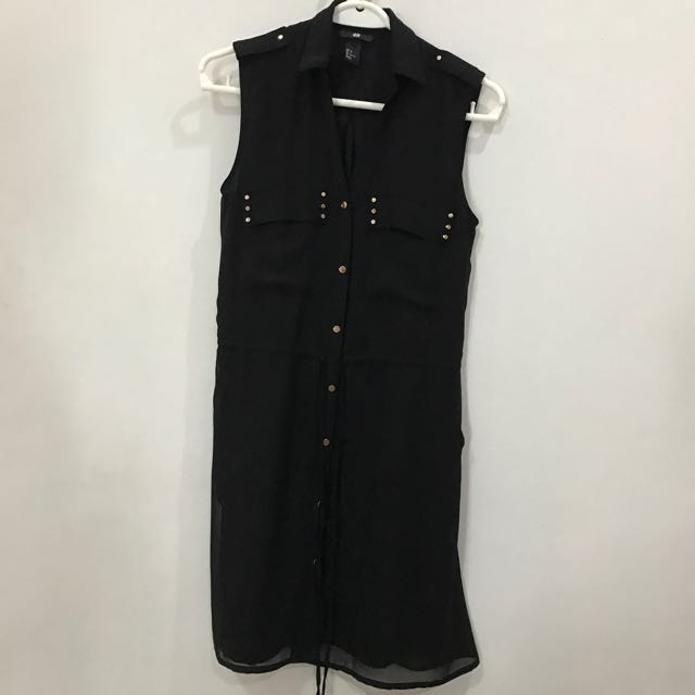 H&M Stud Black Dress