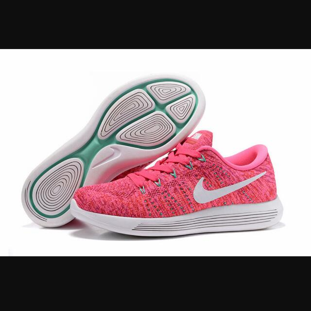 premium selection 619b5 5f038 INSTOCKS Nike Lunarepic Low Flyknit Pink Runner Shoes on Carousell