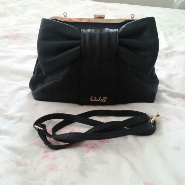 Kate Hill Black Bow Bag