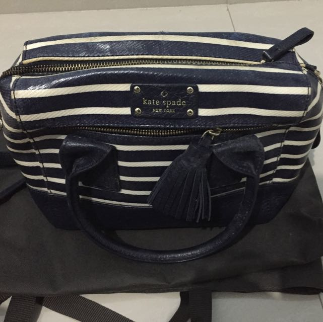 Kate Spade Sling bag Blue Stripes