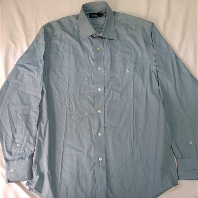 Kemeja Polo Shirt Blue Size L