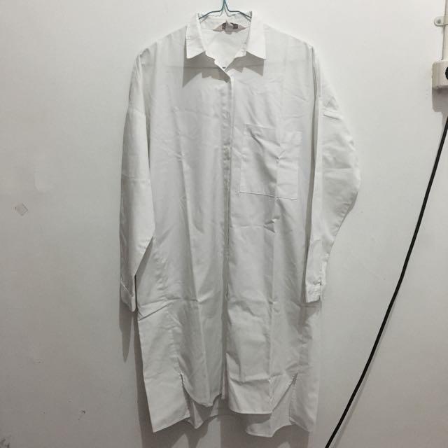Kivee White Shirt Dress
