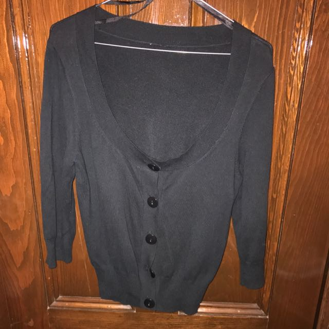 Ladies Black Cardigan Medium