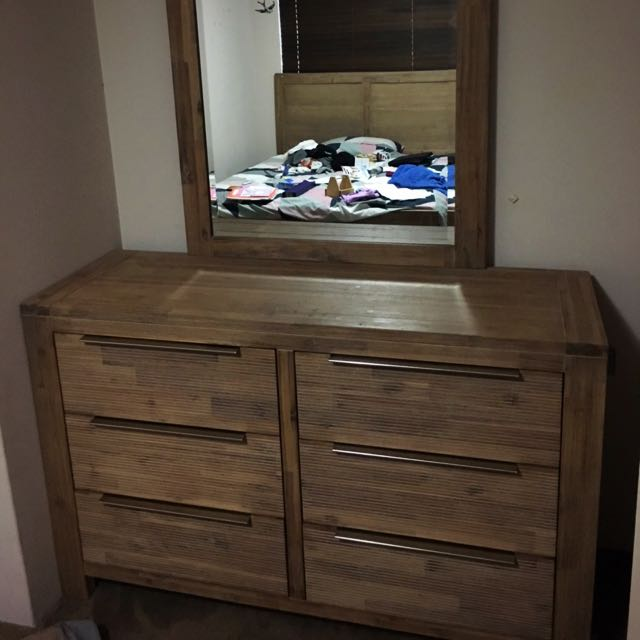 Large Chest Of Draws With Large Mirror