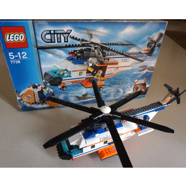 Lego 7738 Coast Guard Helicopter Toys Games Bricks Figurines
