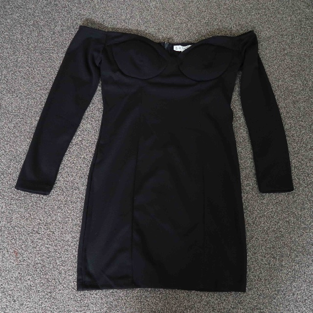 Little Black Off the Shoulder Dress.