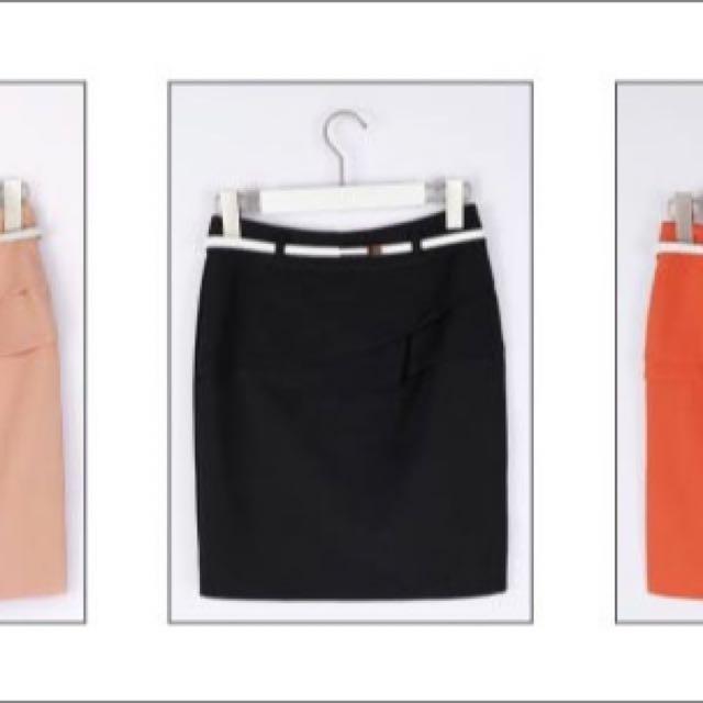 Liyo韓系OL修身包臀裙窄裙(S號 黑色)
