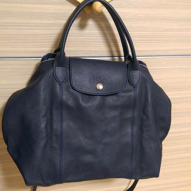 LONGCHAMP 小羊皮 折疊包 側背包 肩背包 手提包