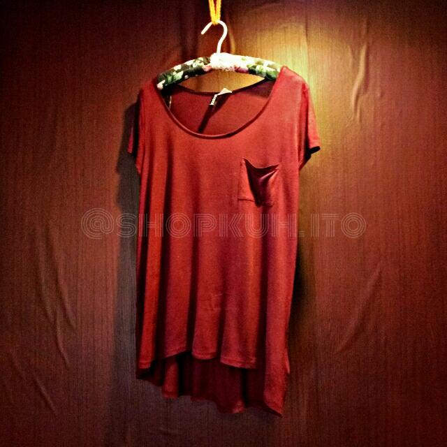 Maroon Loose H&M Shirt