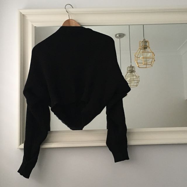Maurie & Eve Black Crop Knit