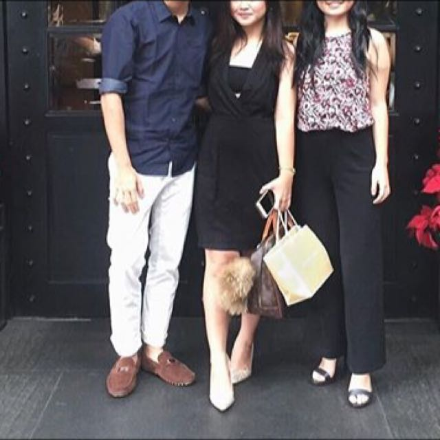 (middle) Black Dress Front Cut Out